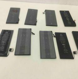 İphone 4 4 s 5 5 s 6 6 artı şarj edilebilir piller