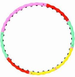 SILAPRO Massage hoop, 98cm, plastic, stainless steel