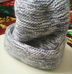 Yeni el yapımı örgü şapka