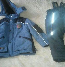Costum de iarnă p116 jachetă + pantaloni + pălărie