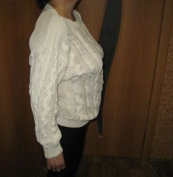 Women's sweater knitted cotton