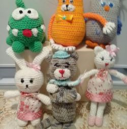Knitted toys.