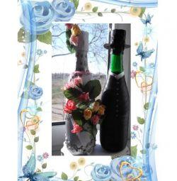 decoupage μπουκάλι διακόσμηση