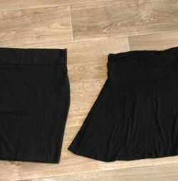 Трикотажные юбки для беременных