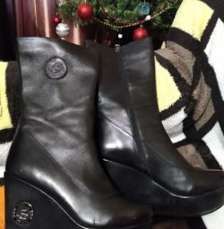 Ankle boots 39 times., Leather