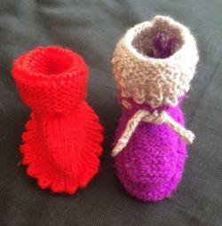 Cizme tricotate, noi