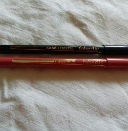 Карандаш для глаз черный и карандаш для губ