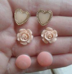 Earrings all for 50r