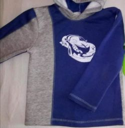 Sweatshirt with blue p 116