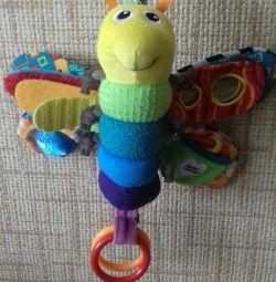 Jucărie educativă. Fluture: rufe, zuruitoare, etc.