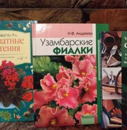 Books on violets and orchids