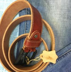 Belts made of genuine leather, new