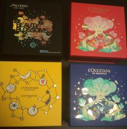 Packing boxes, Loxitan bags, Shiseido and friend