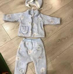 Velor suit for hare, 3-6 months