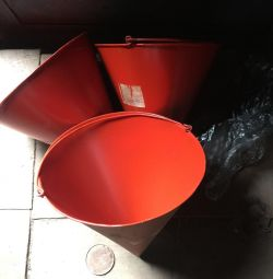 Buckets. Firefighters are new.