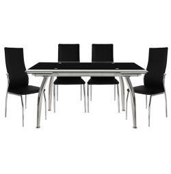 SET TABLES 5TMX TABLE LOCA 120X80-KIM BLACK