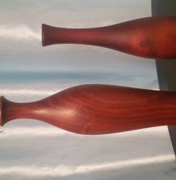 Vază din lemn