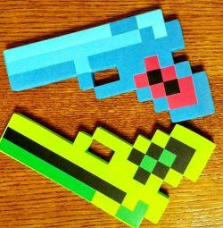 Minecraft'tan oyuncak tabanca