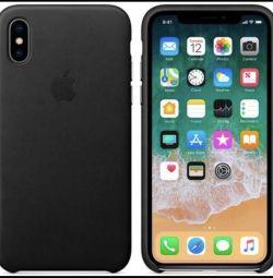 Apple Δερμάτινη Θήκη για iPhone X (Μαύρο) Πρωτότυπο