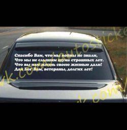 Araba üzerindeki etiketler 9 Mayıs'a kadar