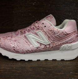 Ανδρικά πάνινα παπούτσια για γυναίκες NB 574 νέα