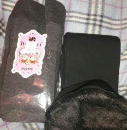 Children's tights on fur