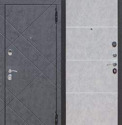 Входная дверь 9 см БРУКЛИН Бетон графит / Бетон пе