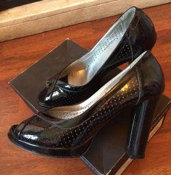 Vernik Tamaris ayakkabı