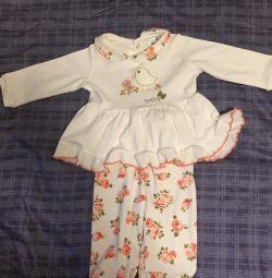 🛍 costum nou pentru fete 6-9 luni