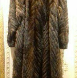 Fur coat long mink