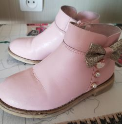 Pink children's boots Hello kitty