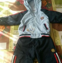 Sports suit warm on the kid 1-2 years