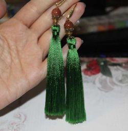 Earrings tassels