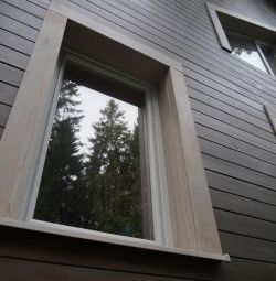 Plank beveled from Larch 96x20