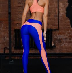 Sporting leggings and top for fitness supplex