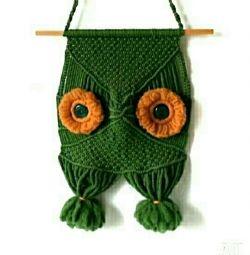 Panel Owl, macrame