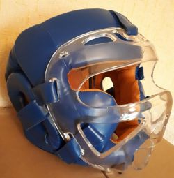 Helmet mask for hand-to-hand combat blue, R: L