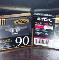 Κασέτες ήχου νέο TDK SA90 χρώμιο