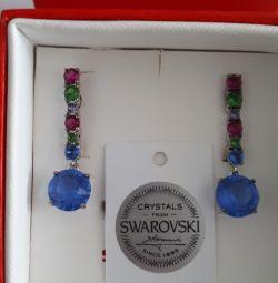 Gümüş Swarovski Küpeler