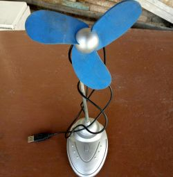 Вентилятор настольный (USB или батарейки)