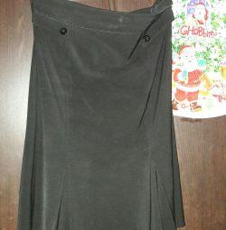 Черная юбка бу р 50
