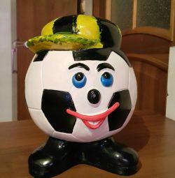 Piggy Bank Soccer Ball