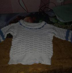 Вязанная кофта на ребенка