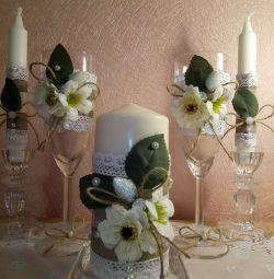 Rustik tarzı düğün seti