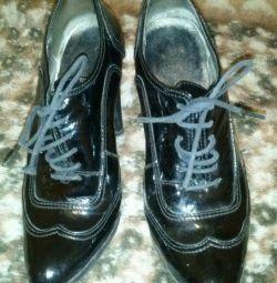 Παπούτσια μπότες αστράγαλο φυσικό δέρμα r. 37