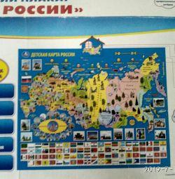 Afiș cu vorbă cu harta Rusiei