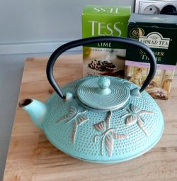 Cast iron teapot, new! 750 ml