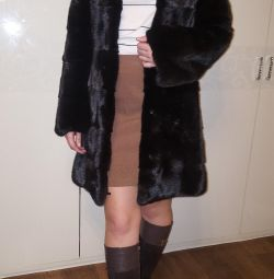 Mink coat. Cross