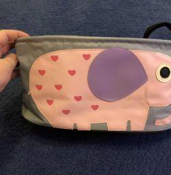 Bebek arabası ve anne çantası (evrensel) yoya