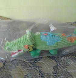 Soft crocodile toy.new sealed